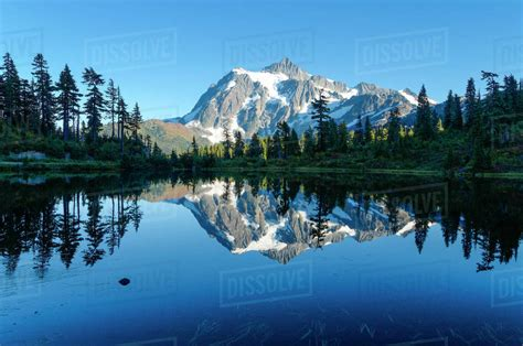 Reflection Of Mount Shuksan In Picture Lake, Mt. Baker