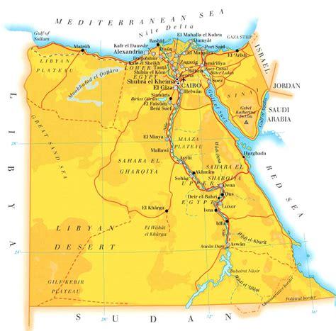 map  egypt flats  luxor
