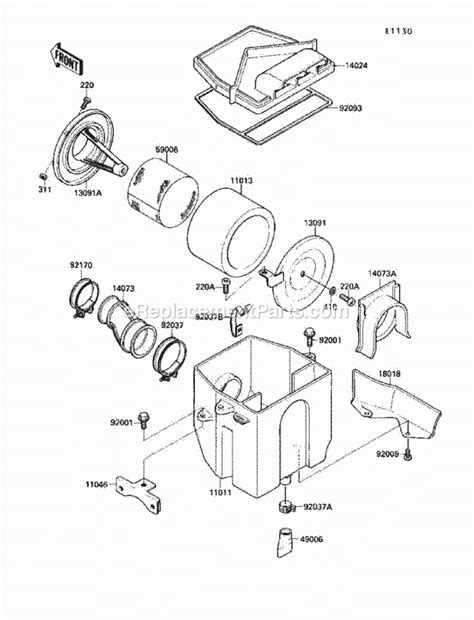 Kawasaki Bayou Engine Diagram Automotive Parts