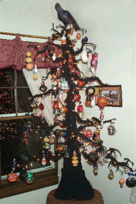 images  halloween trees  ornaments