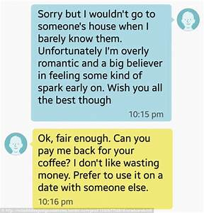 Woman's Tinder date asked her to REFUND the £3.50 he paid ...