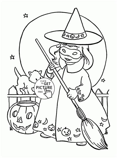 Cute Little Witch Coloring Pages For Kids, Halloween Printables Free…  Holidays Coloring Pages