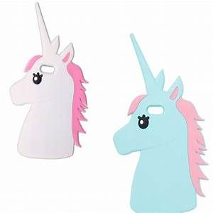 Cute Animal Unicorn Horse Silicone 3D Case Cover For ...