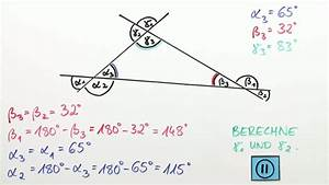 Winkel Berechnen Aufgaben : winkel an geradenkreuzungen mathematik sofatutor ~ Themetempest.com Abrechnung