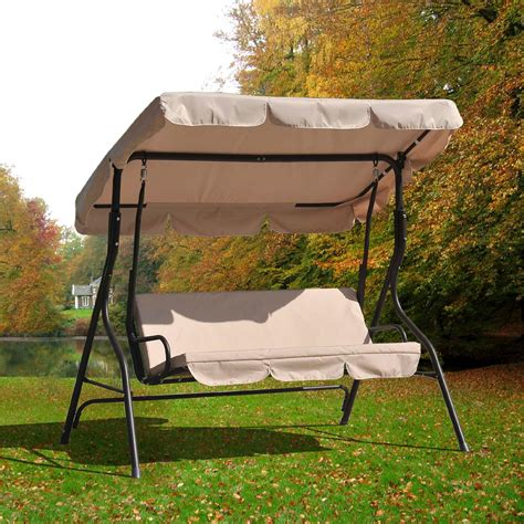 sunjoy virginia 3 seat swing outdoor living patio