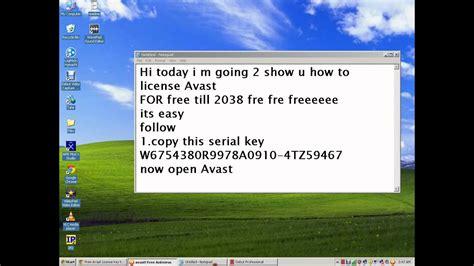 avast license    youtube