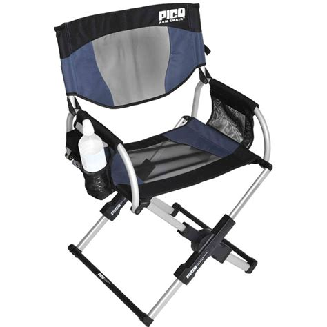 gci outdoor pico telescoping arm director s chair navy 18015