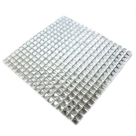 glass mosaic tiles silver brilliant white ds33369