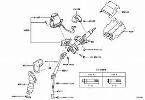 2014 Toyota Rav4 Steering Coupling Boot  Limd  Column  Cnd