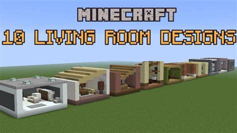 minecraft living room designs youtube