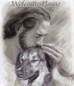 Welcome home... Pic of dog with Jesus   Dog Quotes ...