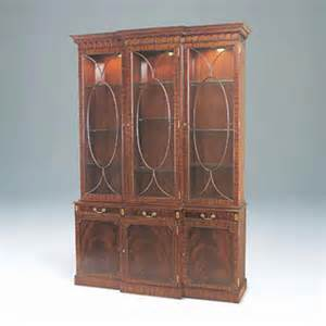 mahogany breakfront china cabinet maitland smith light crotch mahogany lighted breakfront