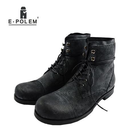 Retro Men Martin Boots Genuine Leather Brand Fashion