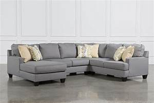 Chamberly 4 Piece Sectional W/Laf Chaise - Living Spaces
