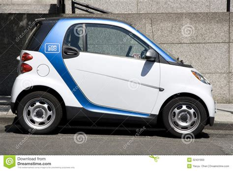 Two Car2go Small Electronic Rental Cars Editorial Photo