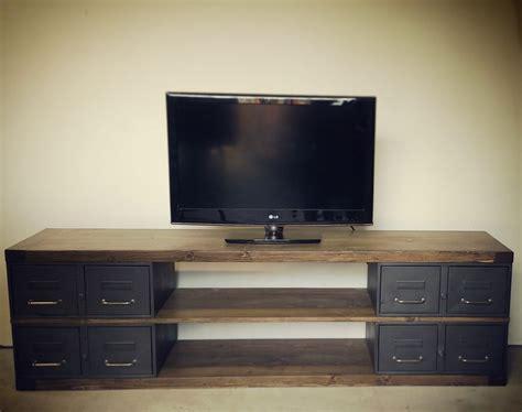 meuble tv industriel bois industriel meuble tv m 233 tal et bois tiroirs