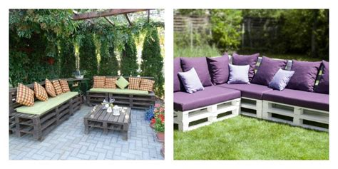 canapé pour terrasse le salon de jardin en palette en plus de 110 idées originales