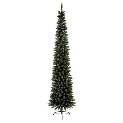 6ft Christmas Tree by 6 6ft Snow Flocked Artificial Pencil Pine Tree