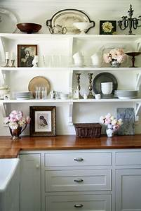 Heir, And, Space, White, Shelves, In, The, Kitchen