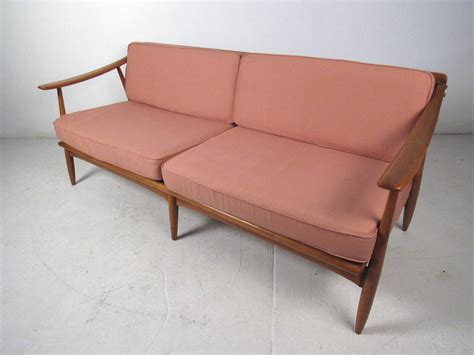 mid century modern wood frame sofa for sale at 1stdibs