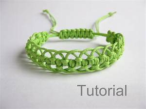 Bracelet Pattern Macrame Tutorial Pdf Green Adjustable Clasp
