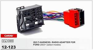 Carav12 123 Iso F Harness Radio Adapter For Ford Focus