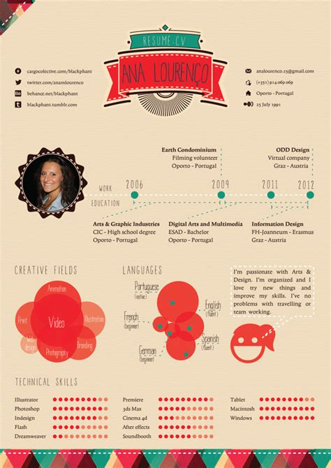 Graphic Design Resumes 2012 by Exles Of Creative Graphic Design Resumes Infographics