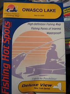 Fhs Fishing  U0026 Boating Map Chart Gps Points Guide    Owasco