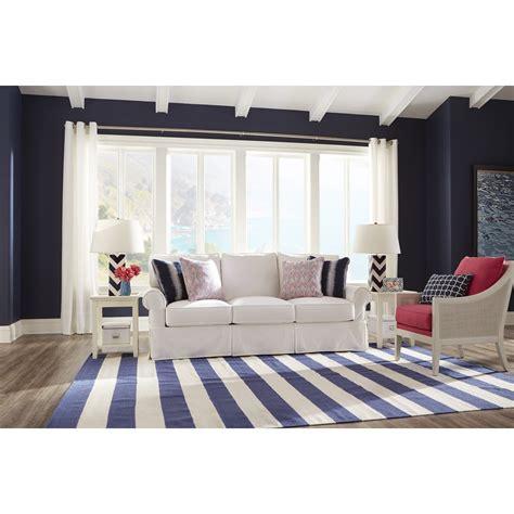 rowe easton casual queen sleeper sofa with slipcover