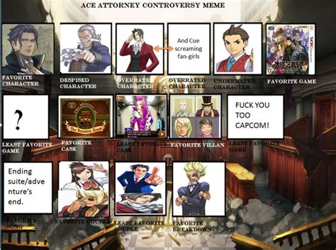 Ace Attorney Memes - the gallery for gt i love you this much memes