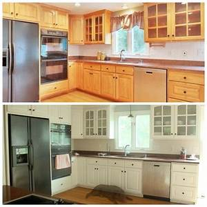 25 best ideas about painting oak cabinets on pinterest With best brand of paint for kitchen cabinets with no step sticker