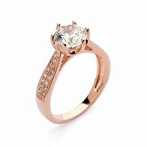 4 color fashion italina rigant 18k rose gold plated for Precious stone wedding rings