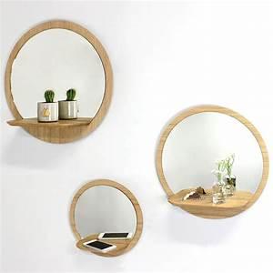 Miroir Rond à Suspendre : miroir rond avec tablette reine m re design ~ Teatrodelosmanantiales.com Idées de Décoration