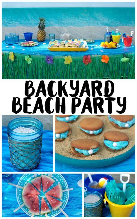 Backyard Beach Party Ideas!  {not Quite} Susie Homemaker