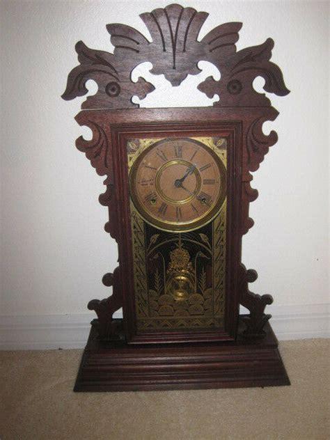 ansonia gingerbread clock  key  pendulum ebay