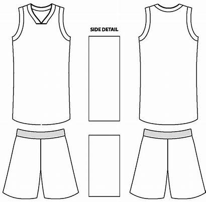 Basketball Uniform Jersey Paint Uniforms Template Blank