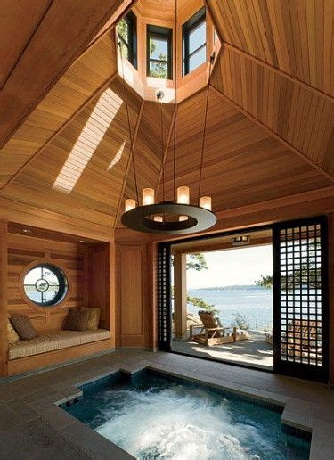 having a hot tub indoors 76 best images about hot tubs jacuzzi on pinterest