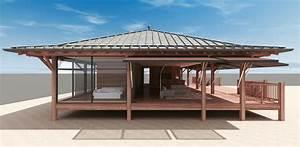La Maison Du Parasol : maison bois et verre parasol sur le bassin d 39 arcachon ~ Dailycaller-alerts.com Idées de Décoration