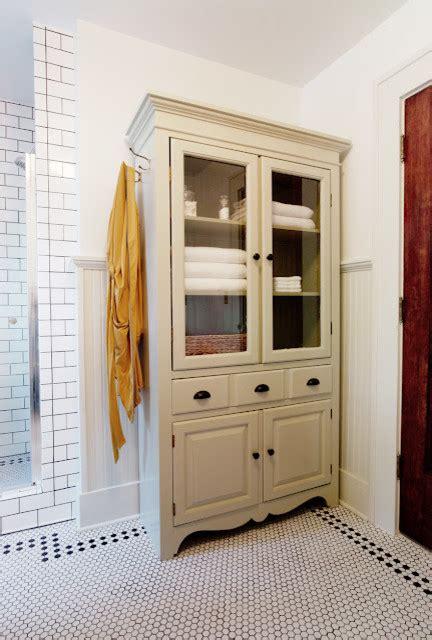 Tv Armoir To Linen Cabinet  Traditional Bathroom