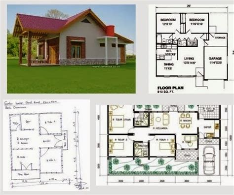 contoh denah rumah sehat gambar rumah minimalis