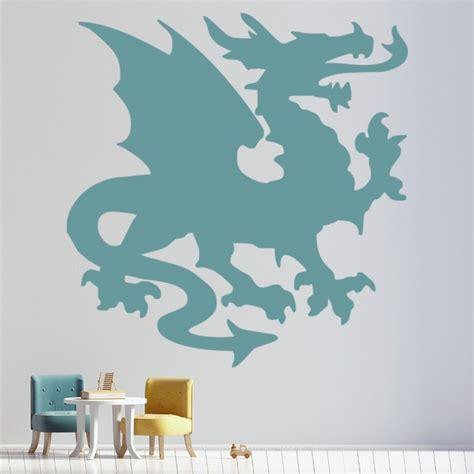 welsh dragon wall sticker fantasy monster wall decal boys