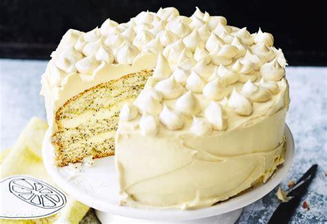 Zitronen-mohn-torte Mit Weißer Schokocreme