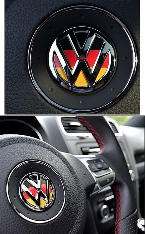 volkswagen vw logo germany steering wheel decal car