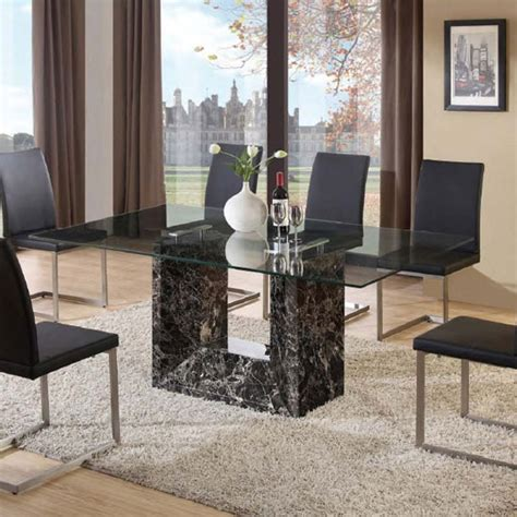 marble glass dining table buy marble dining table furniture in fashion