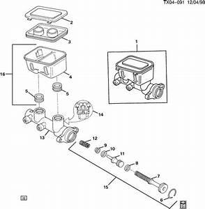 Cover Brake Master Cylinder Reservoir Genuine Gm 18046851