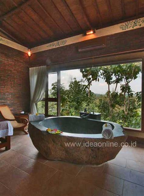 natural stone bathtubs emphasizing  spatialities