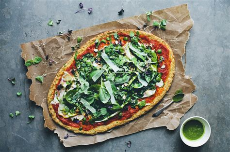 green kitchen stories pizza green pizza with a cauliflower base green kitchen 4028