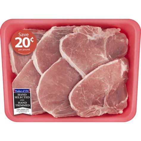 Tender, juicy and versatile pork loin chops. Pork Center Cut Loin Chops Bone-In Family Pack, 3.0 - 3.5 ...