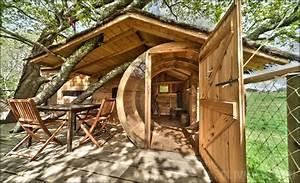 Cabane Dans Les Arbres Construction : cabane dans les arbres bretagne cabane perch e morbihan dormir dans les arbres ~ Mglfilm.com Idées de Décoration