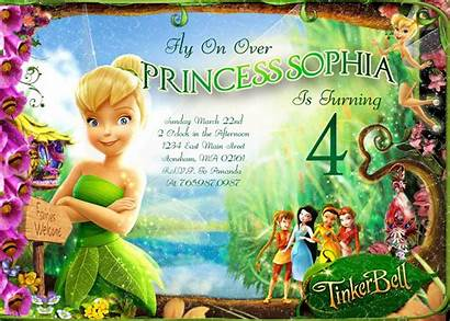 Tinkerbell Birthday Invitation Backgrounds Wallpapers Printable Invitations
